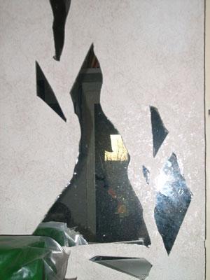 Mosaik aus spiegelscherben